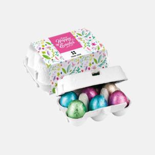Påskägg i äggkartong med egen logga