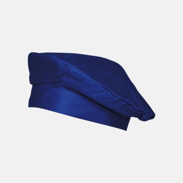 Blå Baskermössor med reklamtryck