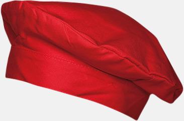 Röd Baskermössor med reklamtryck