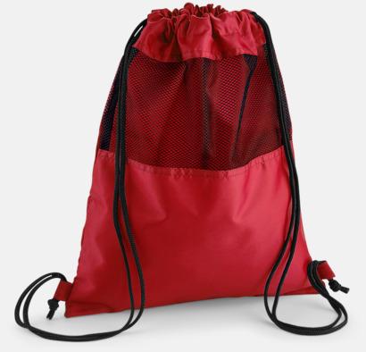 Classic Red Gympapåsar med meshpanel med reklamtryck