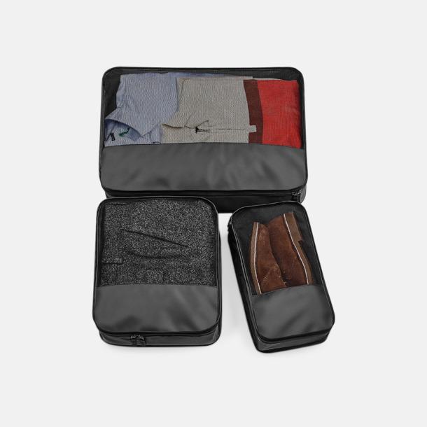Svart Packningsfördelare i 3 storlekar med reklamtryck