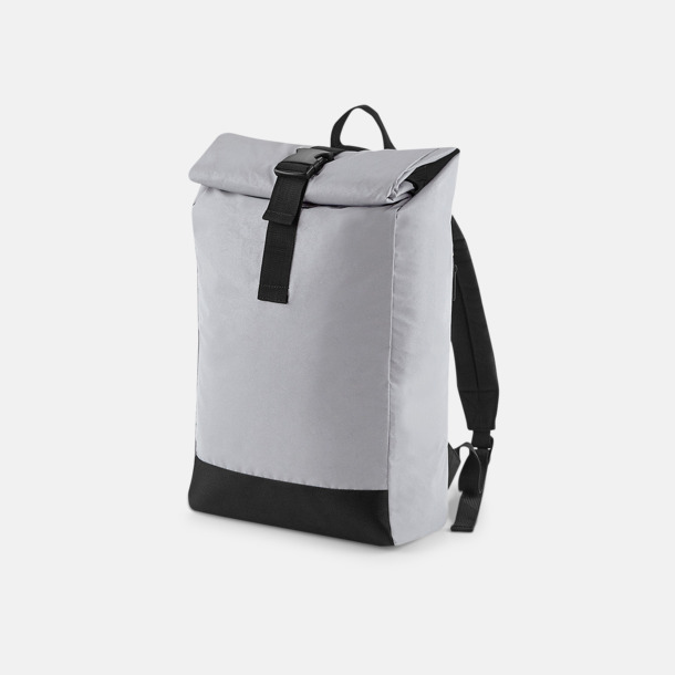 Silver Reflective Reflekterande roll-top ryggsäckar med reklamtryck