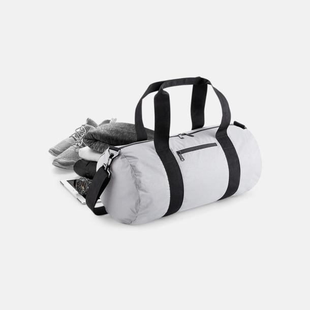Sportbagar i reflekterande material med reklamtryck