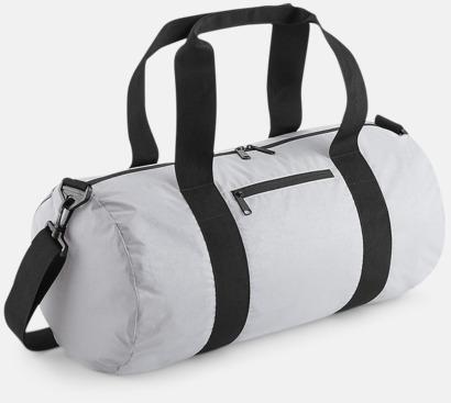 Silver Reflective Sportbagar i reflekterande material med reklamtryck