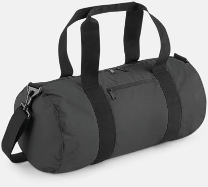 Black Reflective Sportbagar i reflekterande material med reklamtryck
