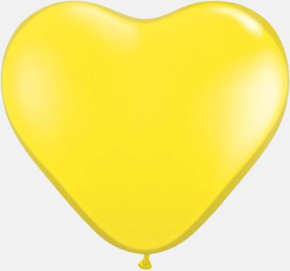 Gul Hjärtformade ballonger med eget reklamtryck