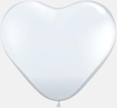 Vit Hjärtformade ballonger med eget reklamtryck