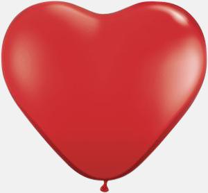 Röd Hjärtformade ballonger med eget reklamtryck