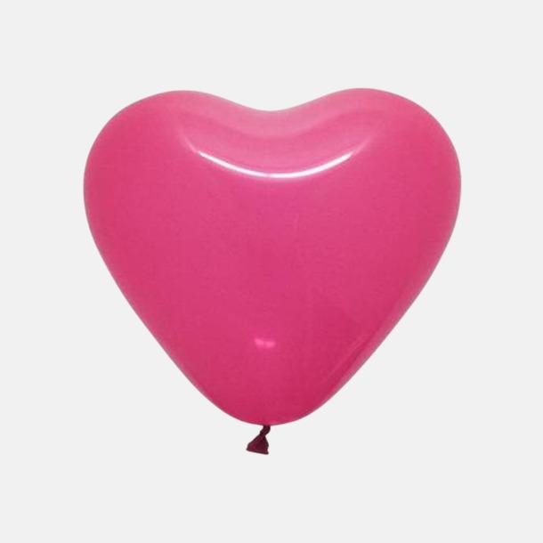Fuchsia Hjärtformade ballonger med eget reklamtryck