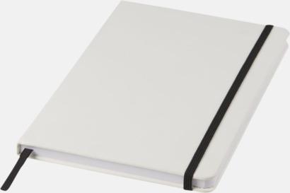 Vit / Svart A5-böcker med kontrasterande färger med reklamtryck