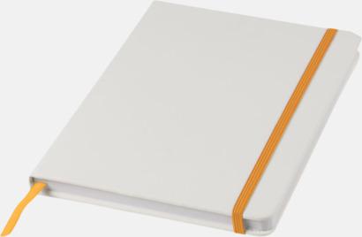 Vit / Orange A5-böcker med kontrasterande färger med reklamtryck