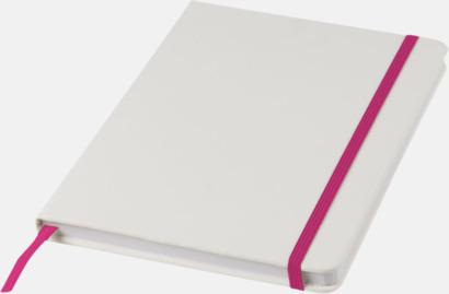 Vit/Rosa A5-böcker med kontrasterande färger med reklamtryck