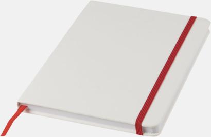 Vit / Röd A5-böcker med kontrasterande färger med reklamtryck