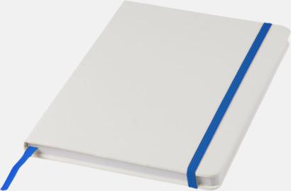 Vit/Royal A5-böcker med kontrasterande färger med reklamtryck