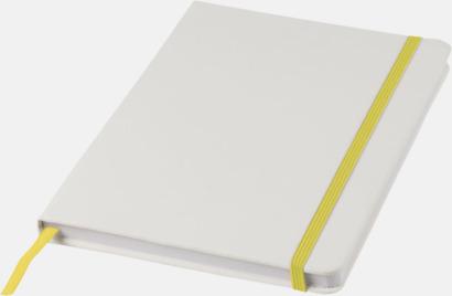 Vit / Gul A5-böcker med kontrasterande färger med reklamtryck