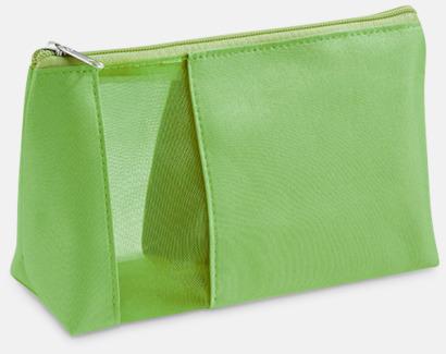 Grön Necessär med meshpanel - med reklamtryck