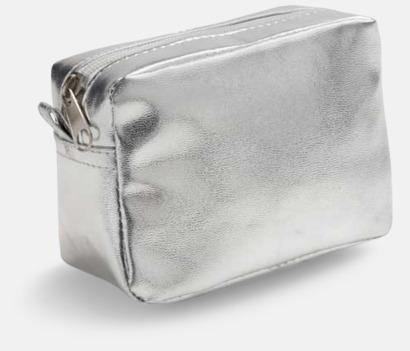 Silver Glänsande fodral med reklamtryck