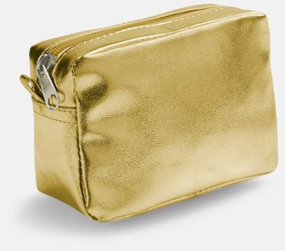 Guld Glänsande fodral med reklamtryck