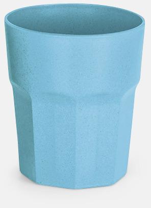 Blå Miljövänliga glas med reklamtryck