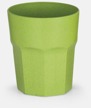 Grön Miljövänliga glas med reklamtryck