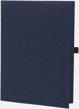 Marinblå Fodral för A4 & A5-block med reklamtryck