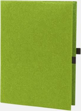 Ljusgrön Fodral för A4 & A5-block med reklamtryck