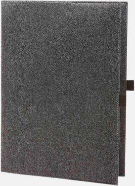Anthracite Fodral för A4 & A5-block med reklamtryck