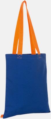 Royal/Orange Tygkassar i flera färgkombinationer med reklamtryck