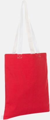 Röd / Vit Tygkassar i flera färgkombinationer med reklamtryck
