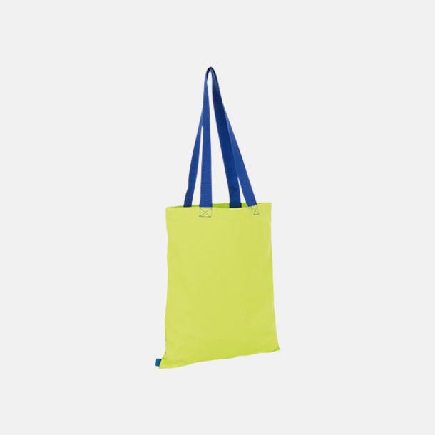 Neon Lime/Royal Tygkassar i flera färgkombinationer med reklamtryck