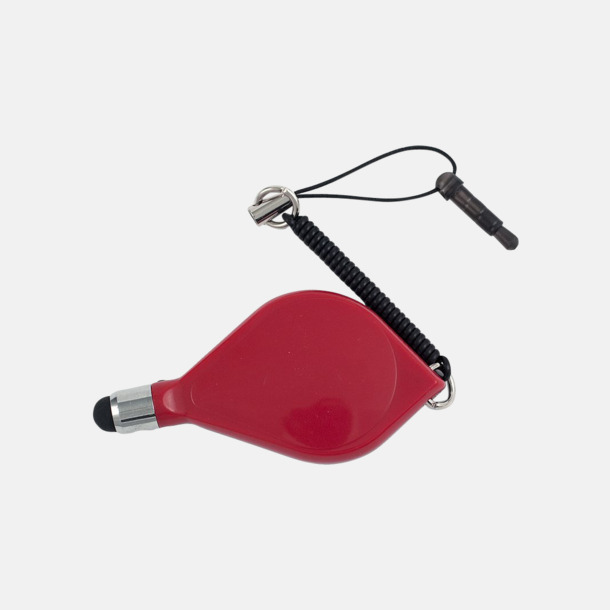 Röd Touchpenna med plug - med reklamtryck