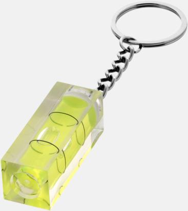 Transparent Nyckelring och vattenpass med eget tryck