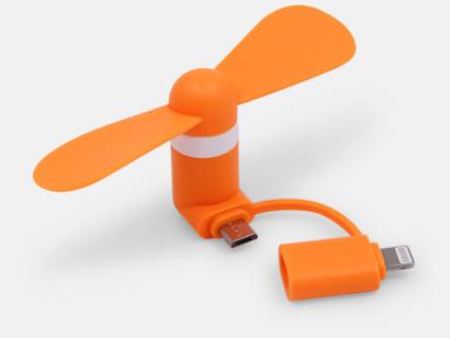 Orange (inkl. adapter) Mobilfläkt för smartphones med egen logga