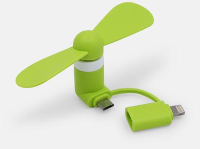 Limegrön (inkl. adapter) Mobilfläkt för smartphones med egen logga