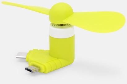 Gul Mobilfläkt för smartphones med egen logga