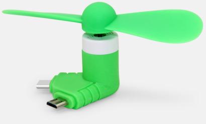 Grön Mobilfläkt för smartphones med egen logga