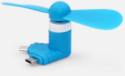 Blå Mobilfläkt för smartphones med egen logga