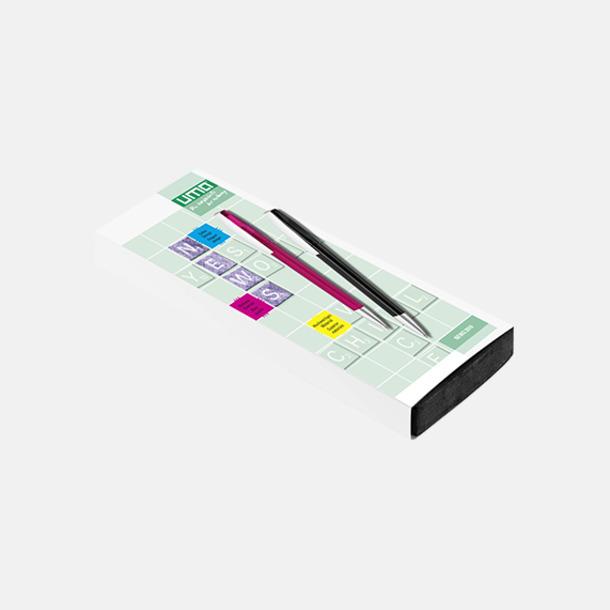 Plast slipcase EVA digital 2 (se tillval) Glansiga reklampennor med triangelform med reklamtryck