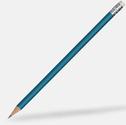 Blå Runda blyertspennor med sudd - med reklamtryck