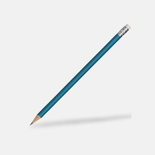 Runda blyertspennor med sudd - med reklamtryck