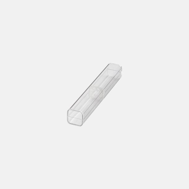 Enkelt plastfodral (se tillval) Soft touch-pennor i solida färger med reklamtryck