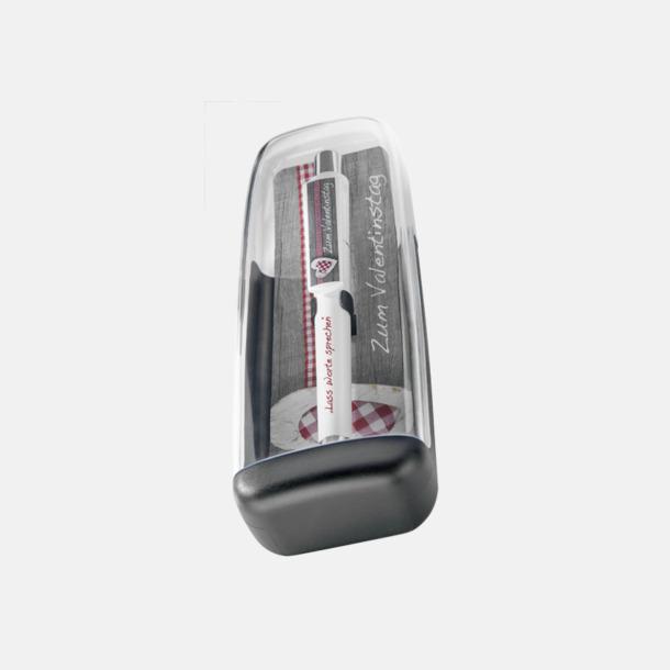 Plastfodral inlägg 1 (se tillval) Soft touch-pennor i solida färger med reklamtryck