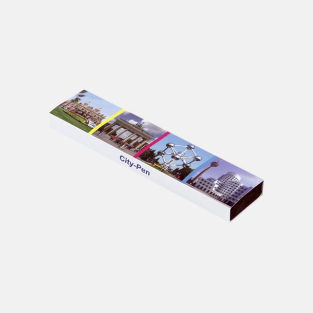 Plast slipcase EVA digital 1 (se tillval) Trekantiga mjuka pennor med reklamtryck