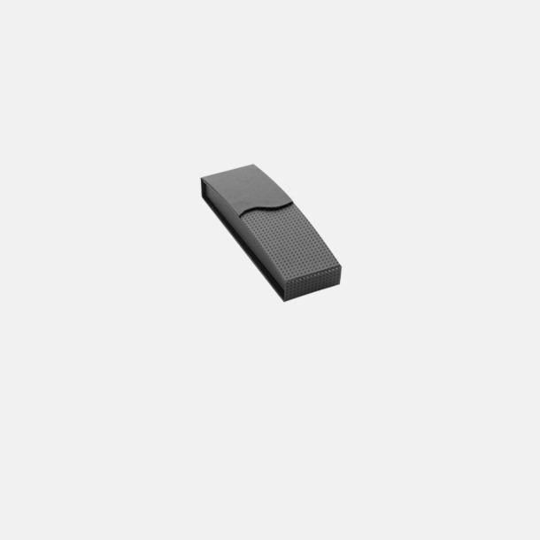 Magnetstängning svart (se tillval) Plastpennor med silverspets med reklamtryck