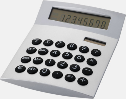 Silver Räknare med vinklad display med reklamtryck