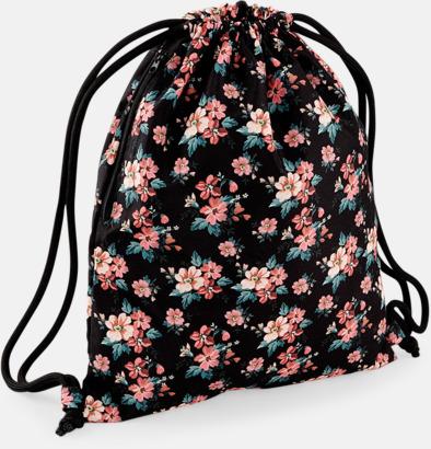 Faded Floral Finmönstrade gympapåsar med eget reklamtryck