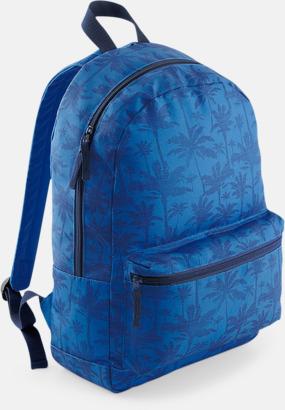 Indigo Palm Mönstrade ryggsäckar med reklamtryck