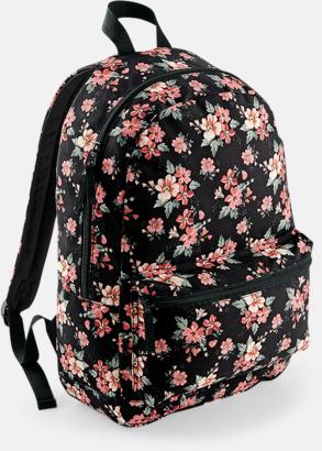Faded Floral Mönstrade ryggsäckar med reklamtryck