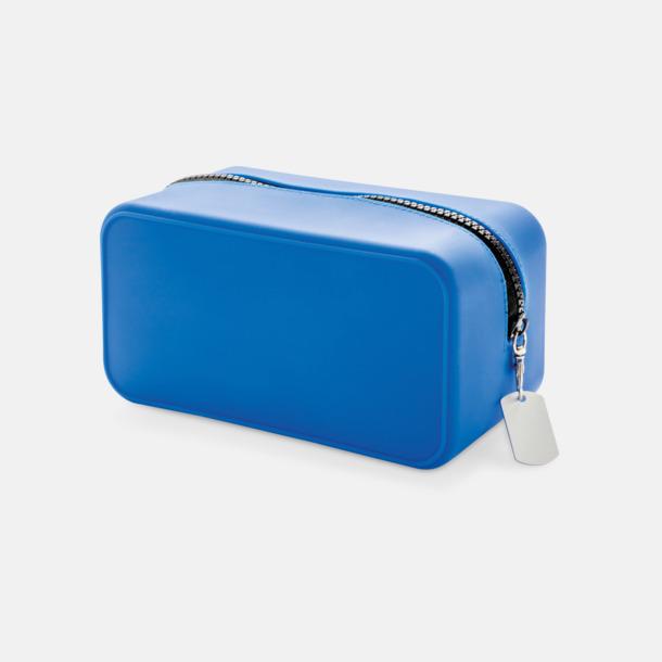 Blå / Svart Silikonnecessärer med reklamtryck
