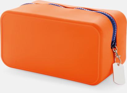 Orange / Blå Silikonnecessärer med reklamtryck